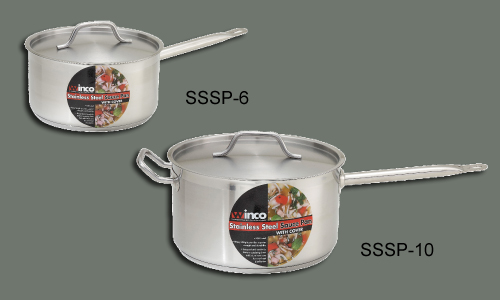 S/S Stock Pot 2 Qt w/ Cover, 6 1/4