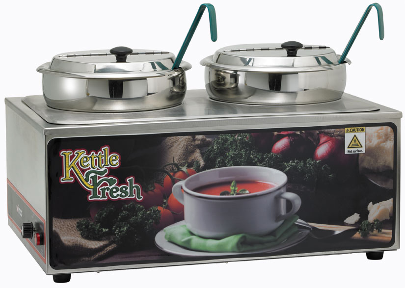 Soup Merchandiser with two 7 Qt. insets,