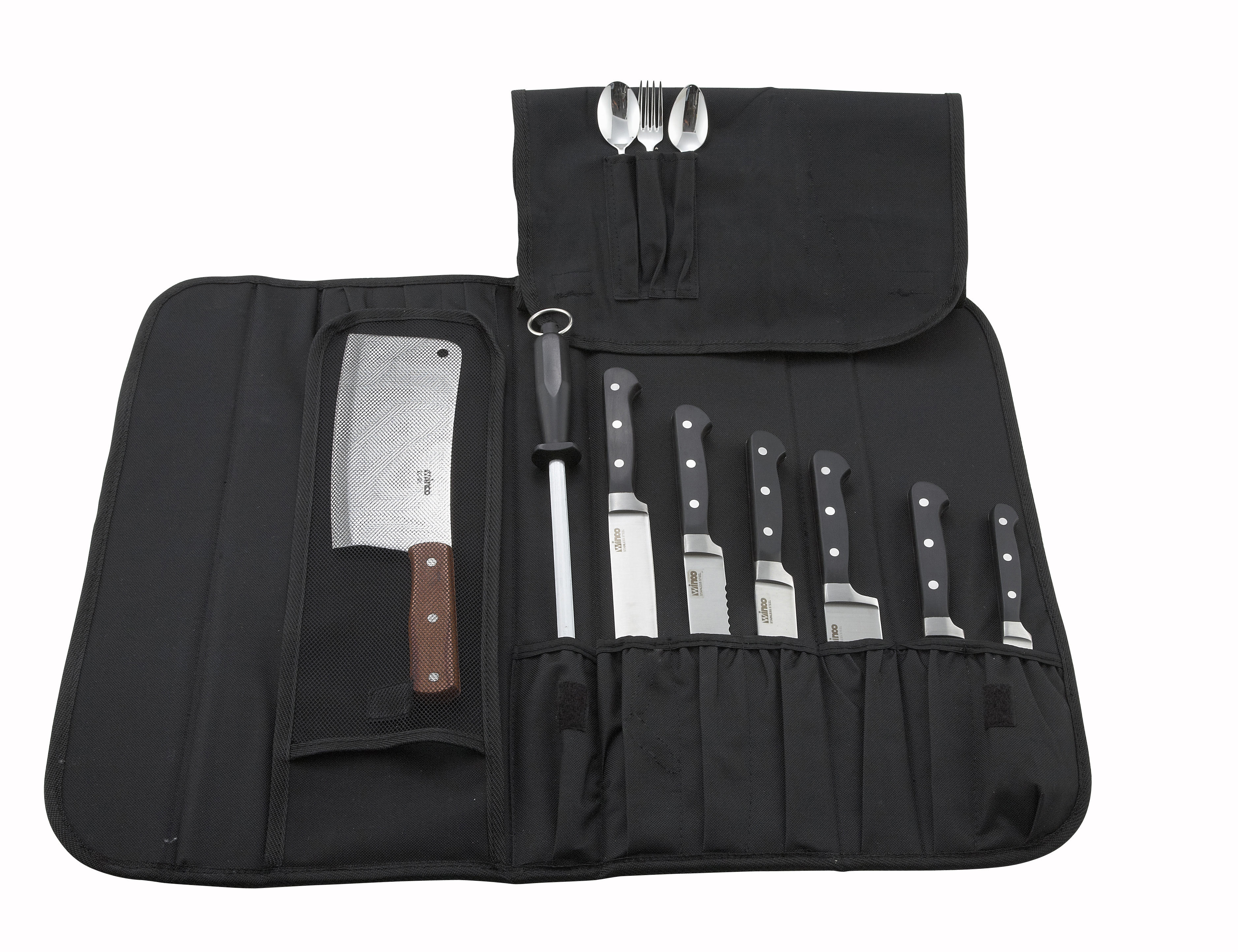10-Piece Cutlery Knife Bag, Black